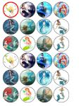 24 x Mermaids edible wafer paper bun cup cake top toppers